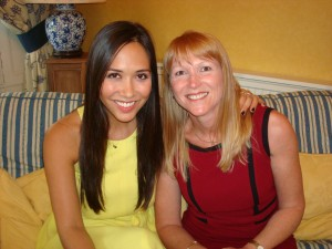 Tracey Wall With Myleene Klass